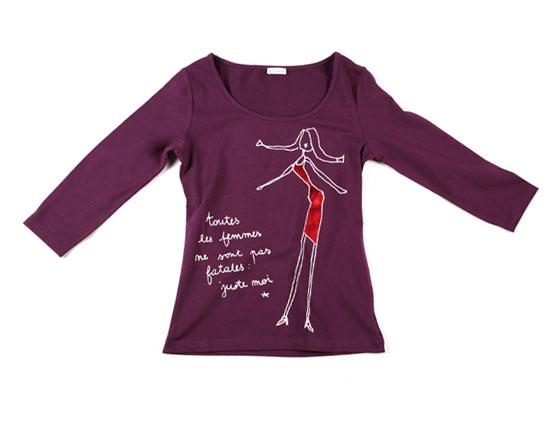 tee-shirt violet